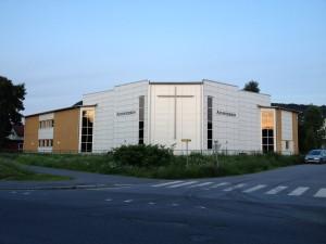 Den nybygde Adventistkirken i Mjøndalen