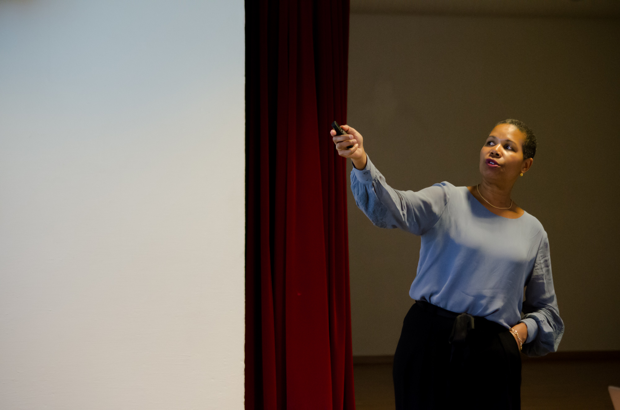 Direktør for arbeid og inkludering i nye Drammen kommune, Manuela Ramin-Osmundsen fortalte om den nye kommunen.