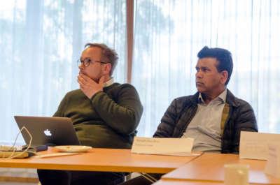 Niels Fredrik Skarre og Amjad Choudhry