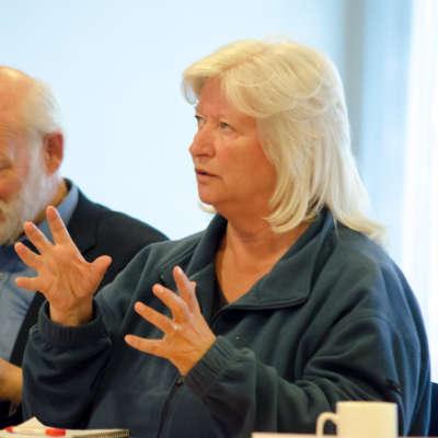 Anne Grete Spæren Rørvik, prest i Metodistkirken, fortalte at deres kirke ligger i et innvandrerstrøk på Strømsø og at de gjerne vil gjøre mer for innvandrere.