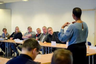 F.v. Sissel Bjørnsen, Hanne Thorgersen, Kent Remi Westergren, Lasse Stølen, Trond Aaring og Kjell Ivar Berger