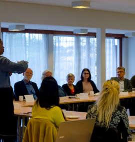 I alt 22 menigheter/foreninger var representert på ledermøtet, med totalt 35 deltakere.