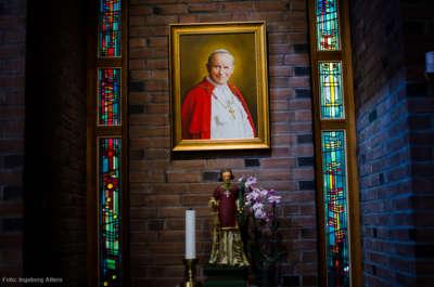 Portrett av pave Johannes Paul II