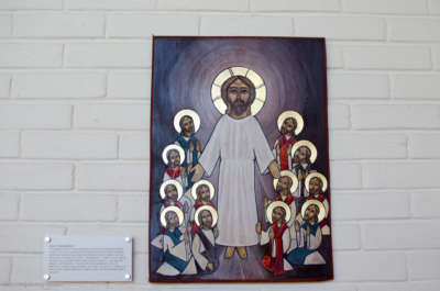 Også i lutherske kirker brukes ikoner. Dette koptiske ikonet heter «Himmelfarten» og er malt av munken Abuna Bishoy el Anthony.